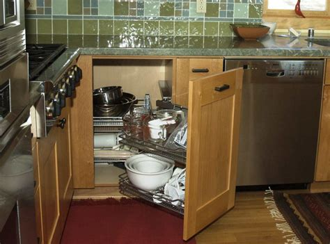 increase  functionality   blind corner cabinet