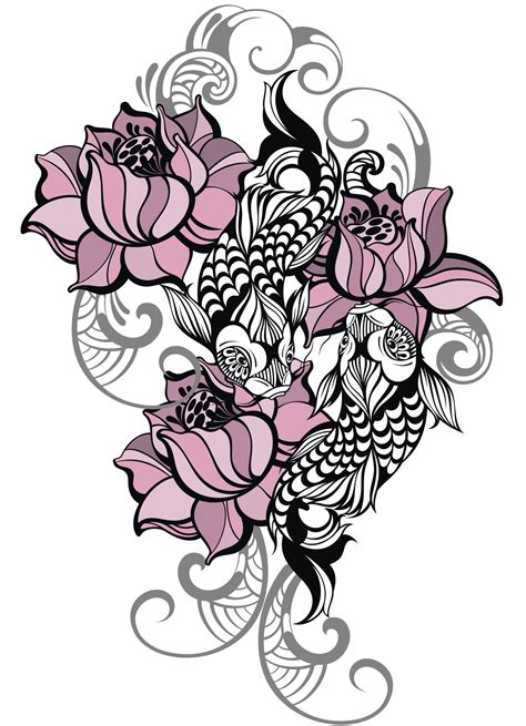 what does a koi fish tattoo mean lotus meaning