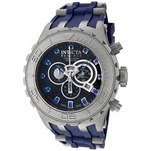 invicta watches s reserve chronograph blue blue