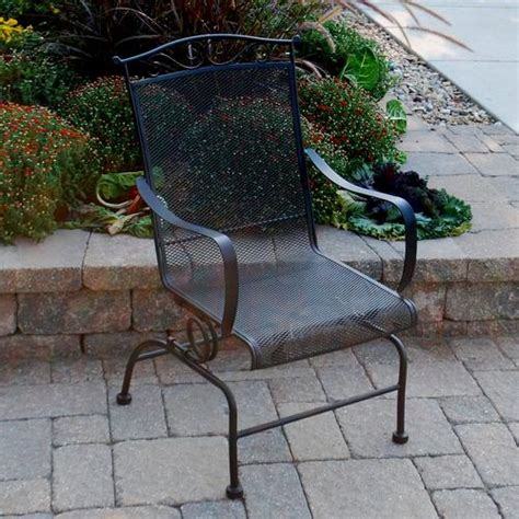 backyard creations wrought iron chair at menards 174