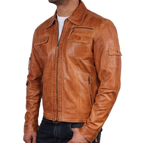 light brown leather jacket mens mens light brown leather jacket coat nj