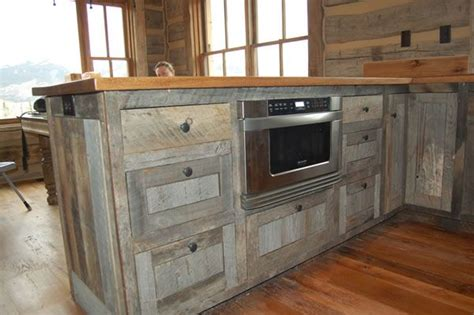 barnwood kitchen cabinets recycled barnwood cabinets kitchen pinterest modern