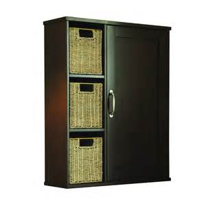 bathroom storage cabinets lowes shop allen roth tanglewood brown wall cabinet