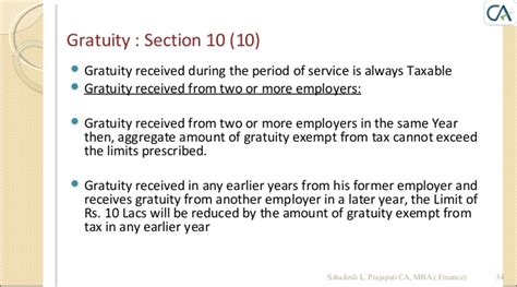 gratuity exemption under section 10 income tax a y 2014 2015