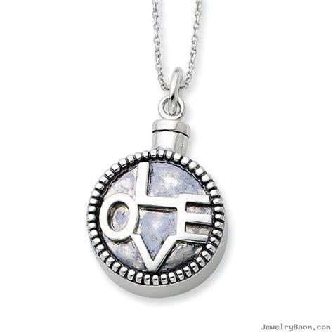 sterling silver antiqued ash holder 18in necklace