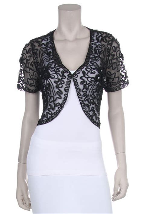 pattern for black lace dress black lace bolero jacket short sleeve w floral pattern
