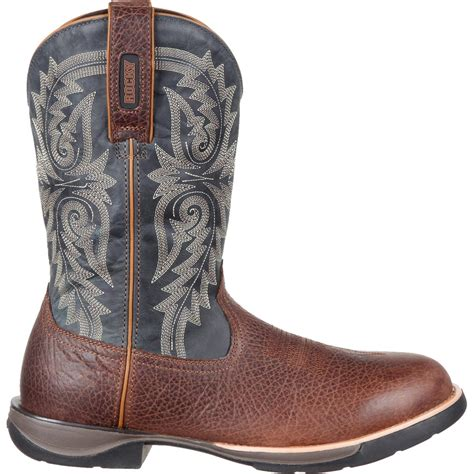 comfortable mens cowboy boots rocky lt men s comfortable lightweight blue western boot