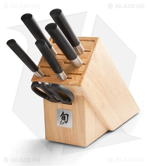 wasabi black knife set 7 blade hq