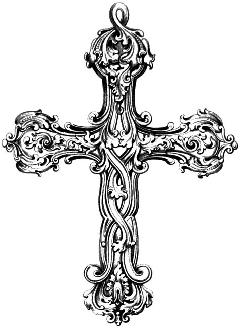 vintage cross tattoo free vintage cross clip image oh so nifty vintage