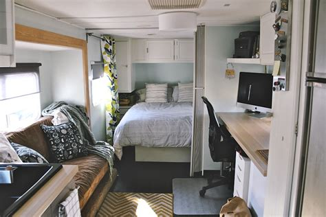 the rv remodel image gallery interior travel trailer renovation
