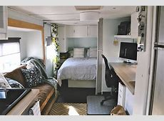 27 Amazing RV Travel Trailer Remodels You Need To See 25 Foot Camper