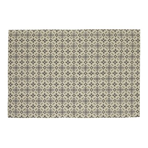 hortense rug with cement tile motif 160 x 230 cm maisons