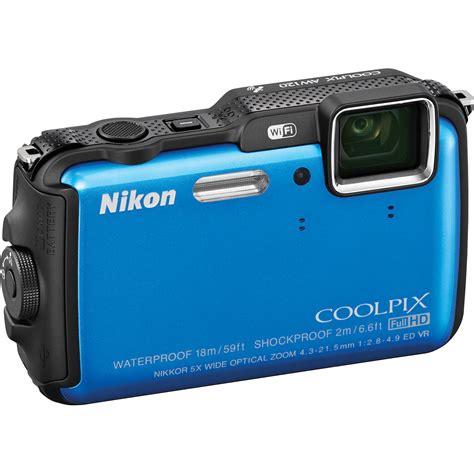 Nikon Underwater nikon coolpix aw120 waterproof digital blue 26466 b h