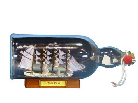 captain small bottle buy blue flying cloud ship in a glass bottle w sky 11 inch