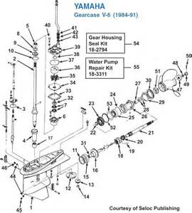 yamaha v6 1984 91 gearcase exploded view iboats com