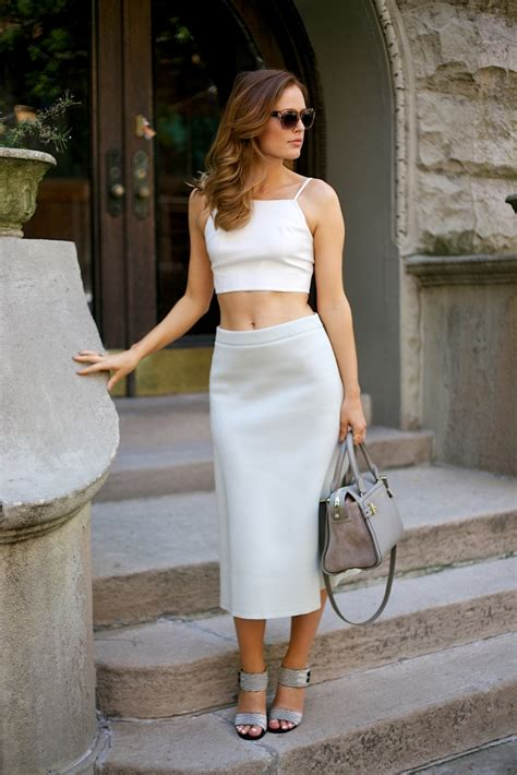 trendy style pencil skirt with top fashion