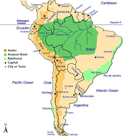 south america map bully what countries touch the river