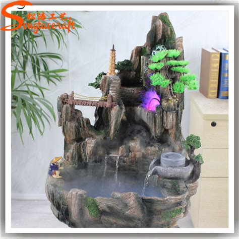 home decor waterfalls made in china fiberglass rock waterfall artificial rock waterfall for garden and home decor