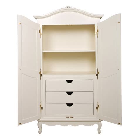 White Armoire by Armoire In Antico White With Petit Moi Motif By