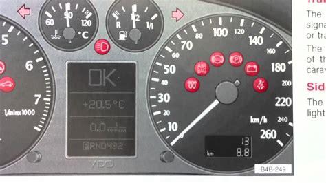 audi a6 dashboard warning lights audi a6 c5 dashboard warning lights symbols diagnostic