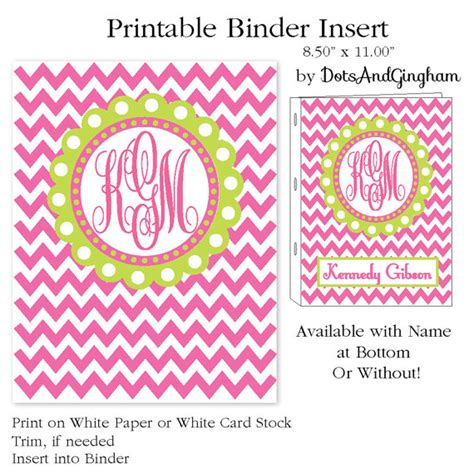 printable binder covers monogram free printable monogrammed binder covers party