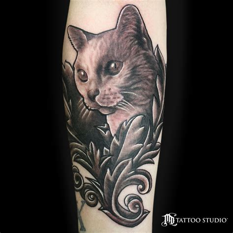calico cat tattoo realistic pictures to pin on pinterest