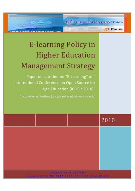 themes in education policy paper on sub theme e learning of quot international