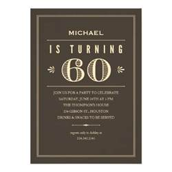 60th birthday invitations for 5 quot x 7 quot invitation card zazzle