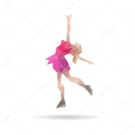 figure background figure skating abstract isolated on a white