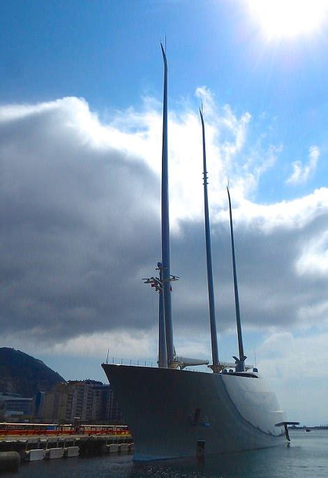 floating boat gibraltar russian oligarch s 163 360million super yacht a in gibraltar