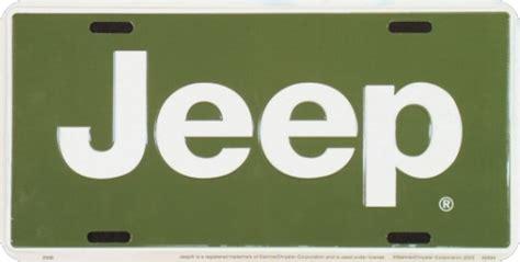 jeep green logo green jeep logo license plate 2566