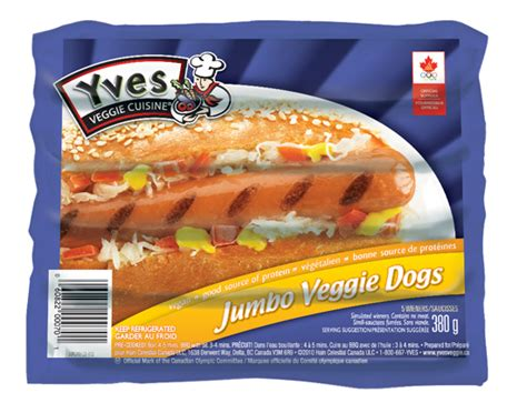tofu dogs yves veggie dogs jumbo size 5 pk 380g fresh option organic delivery