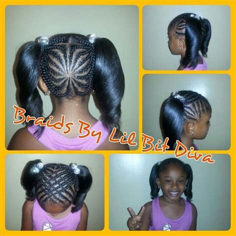 braids that lead into a ponytail braids fro little black girls black little girls