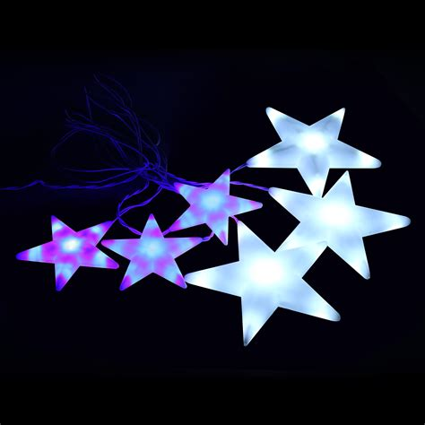 blue star fairy lights 2m 7ft white and blue star curtain fairy string light