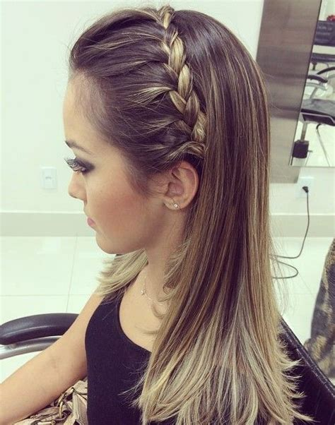 homecoming hairstyles with straight hair prom hair down straight braid www pixshark com images