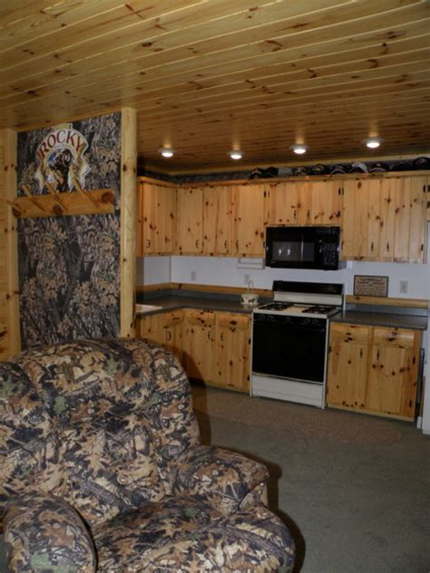 basement pine and lower cabinets in knotty pine rustic
