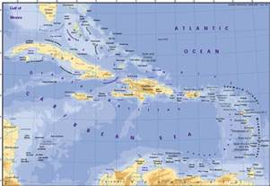 Caribbeans Map by Caribbean Map Cuba Mappery