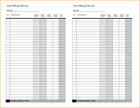 Memo Book Template Mileage Log Book Vertola