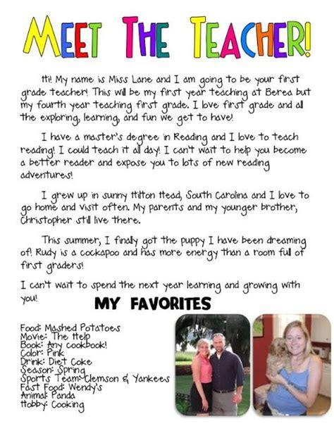 biography introduction ideas meet the teacher bio such a cute idea kindergarten