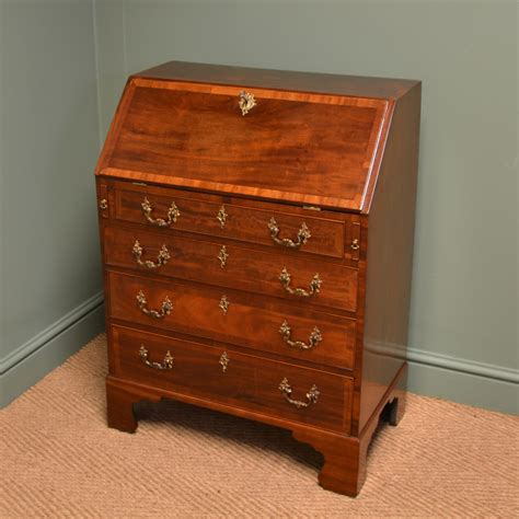 mahogany writing desk striking small antique mahogany georgian bureau writing