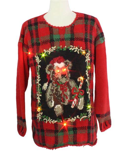 bear riffic light up ugly christmas sweater tiara