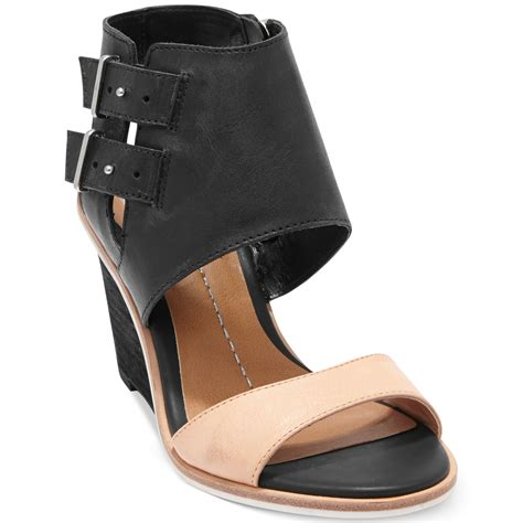 dolce vita wedge sandals dolce vita dv by cambria wedge sandals in black lyst
