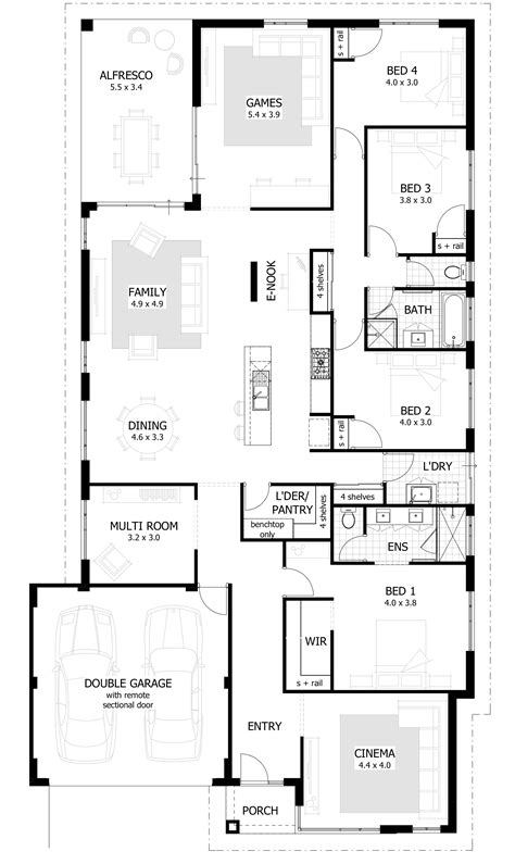 4 story house plans single story 4 bedroom house plans ahscgs