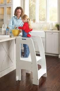 Kitchen Helper Guidecraft Step Up Kitchen Helper White