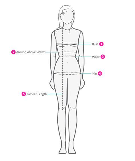 diagram of measure measurement guide to get tailor made salwar kameez