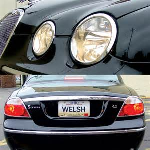 Jaguar S Type Headlight Jaguar S Type 2005 Up Headlight Tailight Trim Kit Ebay