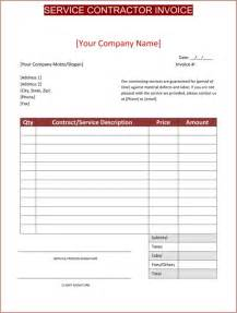 contractor templates free general contractor invoice template template design