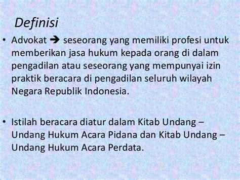 Kitab Advokat Indonesia advokat