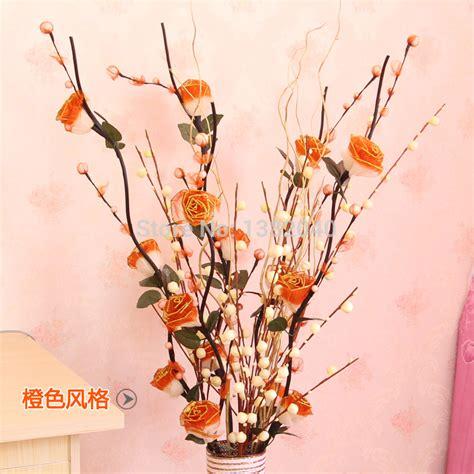 floreros y flores artificiales jarrones altos con flores artificiales buscar con google