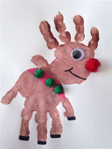 reindeer craft projects handprint rudolph craft reindeer craft craft